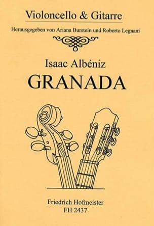 Granada - violoncelle et guitare ALBENIZ Partition 0 - laflutedepan