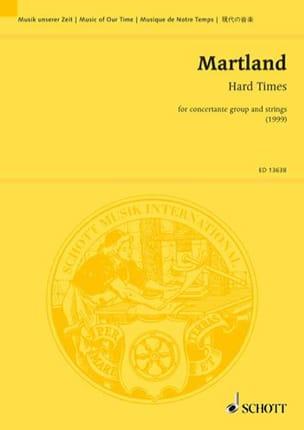Hard Times Steve Martland Partition Grand format - laflutedepan