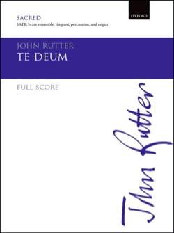 Te Deum - Conducteur version Cuivres RUTTER Partition laflutedepan