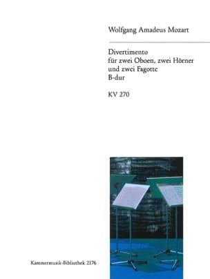 Divertimento B-Dur KV 270 -Bläserextett - Stimmen MOZART laflutedepan