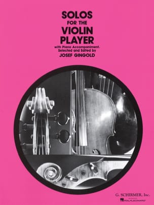 Solos for the violin player Josef Gingold Partition laflutedepan