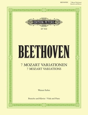 7 Mozart Variationen - BEETHOVEN - Partition - Alto - laflutedepan.com