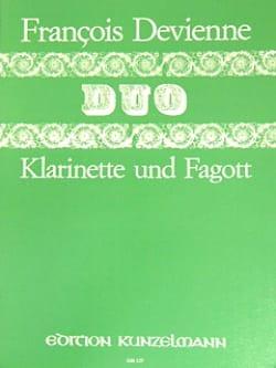Duo n° 6 - Klarinette Fagott DEVIENNE Partition Duos - laflutedepan