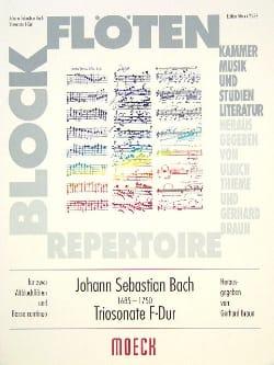 Triosonate F-Dur -2 Blockflöten BC BACH Partition laflutedepan