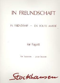 In Freundschaft -Fagott STOCKHAUSEN Partition Basson - laflutedepan