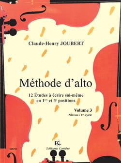 Méthode d'Alto Volume 3 Claude-Henry Joubert Partition laflutedepan