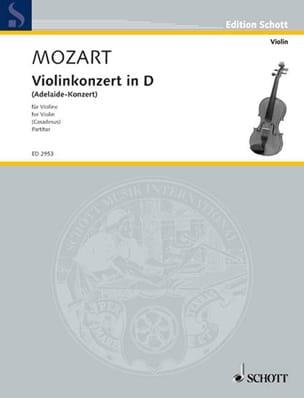 Violin-Konzert in D-Dur Adelaide-Konzert - Partitur laflutedepan