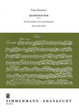 Quartett D-Dur op. 93 -Flöte Violine Viola Violoncello - Partitur + Stimmen laflutedepan