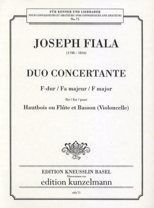 Duo concertante fa majeur Joseph Fiala Partition Duos - laflutedepan