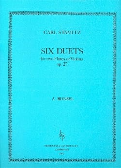 6 Duets Op. 27 Bonsel STAMITZ Partition laflutedepan