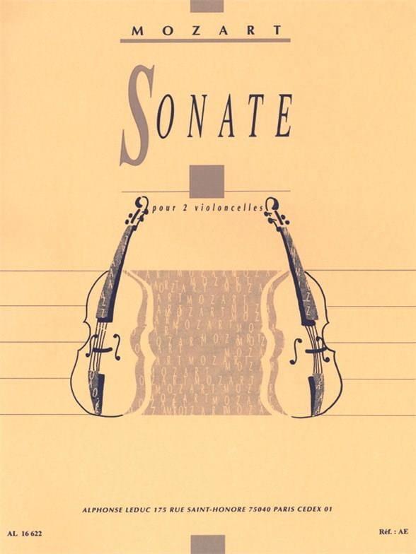 Sonate - 2 Violoncelles - MOZART - Partition - laflutedepan.com