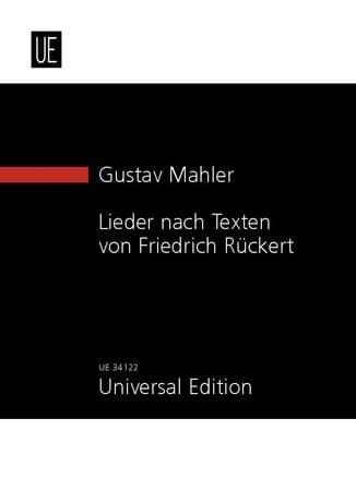 Lieder Nach Texten Von Friedrich Rückert - MAHLER - laflutedepan.com
