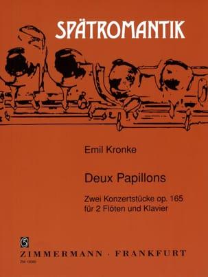 Deux papillons op. 165 Emil Kronke Partition Trios - laflutedepan