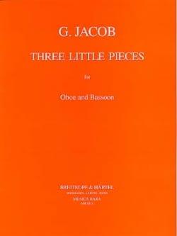 3 Little pieces -Oboe bassoon Gordon Jacob Partition laflutedepan