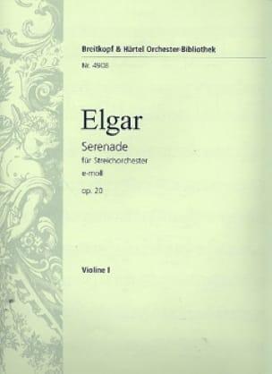 Serenade e-moll op. 20 - Matériel complet - ELGAR - laflutedepan.com