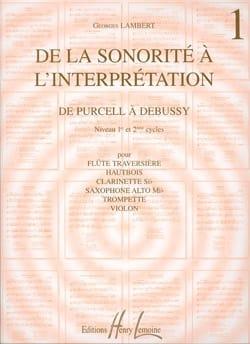 De la sonorité à l'interprétation - Volume 1 laflutedepan