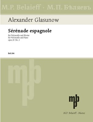 Sérénade espagnole op. 20 n° 2 Alexandre Glazounov laflutedepan