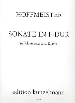 Sonate F Dur-Klarinette Klavier HOFFMEISTER Partition laflutedepan