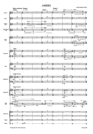 Kaija Saariaho - Bitter - Score - Partition - di-arezzo.com