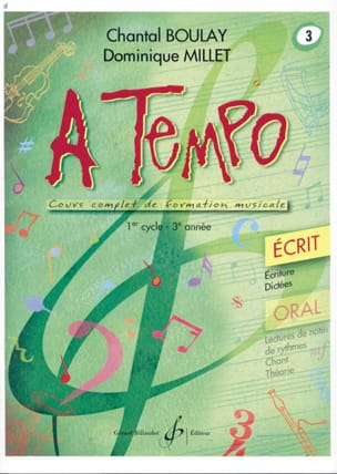 A Tempo Volume 3 - Ecrit BOULAY - MILLET Partition laflutedepan