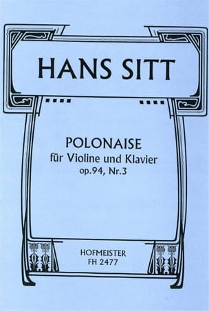 Polonaise Op.94 N°3 Hans Sitt Partition Violon - laflutedepan