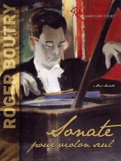 Sonate - Roger Boutry - Partition - Violon - laflutedepan.com