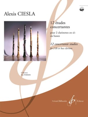 Alexis Ciesla - 12 Etudes Concertantes - Partition - di-arezzo.fr