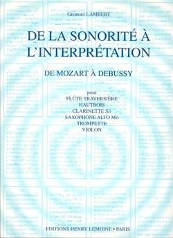 De la Sonorité à l'Interprétation Volume 2 laflutedepan