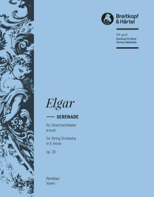 Serenade e-Moll, op. 20 - Partitur ELGAR Partition laflutedepan