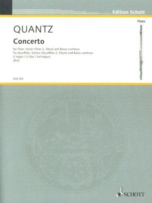 Concerto G-Dur -Flöte, Violine Flöte, Oboe u. Bc QUANTZ laflutedepan