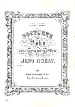 Nocturne Jenö Hubay Partition Violon - laflutedepan