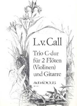 Trio Do Maj. Pour 2 Flûtes et Guitare Leonhard von Call laflutedepan