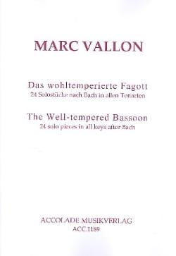 Le Basson Bien Tempéré Marc Vallon Partition Basson - laflutedepan