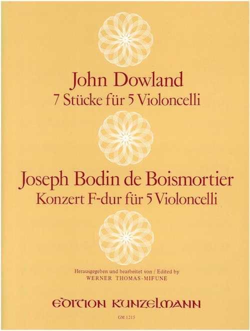 7 Stücke / Konzert F-Dur - 5 Violoncelli - laflutedepan.com