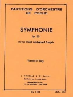 Symphonie Op. 25 Indy Vincent D' Partition Petit format - laflutedepan