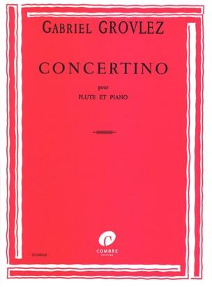 Concertino - Flûte Gabriel Grovlez Partition laflutedepan