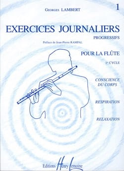 Exercices Journaliers Volume 1 Georges Lambert Partition laflutedepan