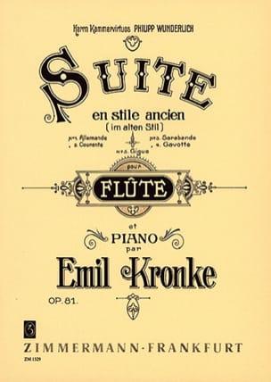 Suite im alten Stil op. 81 Emil Kronke Partition laflutedepan