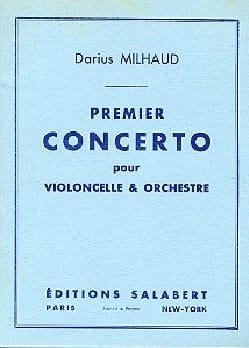Concerto n° 1 pour violoncelle MILHAUD Partition laflutedepan