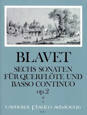 6 Sonaten op. 2 Bd. 2 - Flöte und Bc Michel Blavet laflutedepan