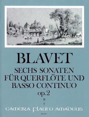 Michel Blavet - 6 Sonaten op. 2 Bd. 2 - Flute and Bc - Partition - di-arezzo.co.uk