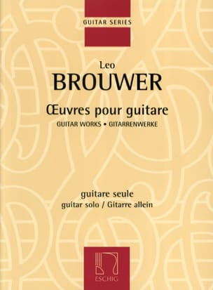 Oeuvres pour guitare BROUWER Partition Guitare - laflutedepan