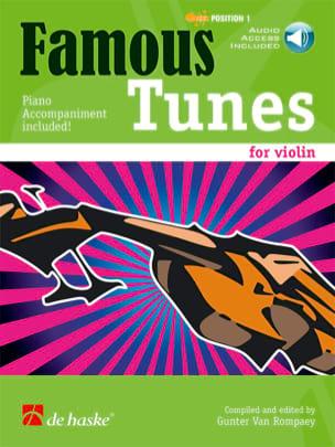 Famous Tunes for Violin Rompaey Gunter Van Partition laflutedepan