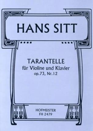 Tarantelle Op.73 N°12 Hans Sitt Partition Violon - laflutedepan