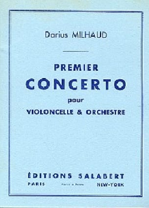 Concerto n° 1 pour violoncelle - MILHAUD - laflutedepan.com