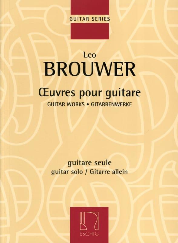 Oeuvres pour guitare - BROUWER - Partition - laflutedepan.com