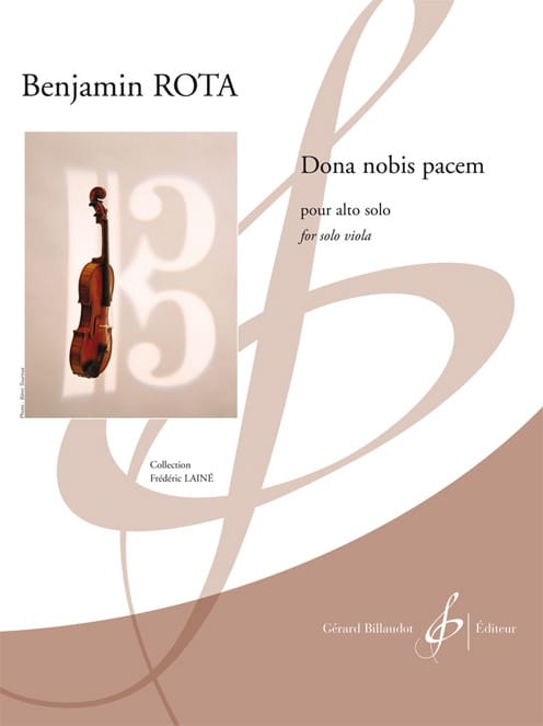 Dona Nobis Pacem - Benjamin Rota - Partition - Alto - laflutedepan.com