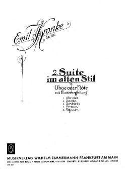 Zweite Suite Im Alten Stil, Op. 160 - Emil Kronke - laflutedepan.com