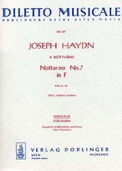 HAYDN - Notturno Nr. 7 F-Dur Hob. 2: 28 - 2 Altblockflöten Klavier - Partition - di-arezzo.co.uk