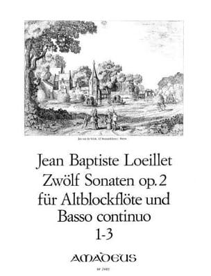 12 Sonates op. 2 : n° 1-3 - Altoblockflöte u/ Bc LOEILLET laflutedepan